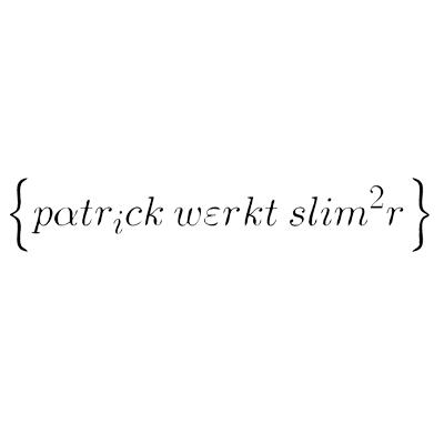 Patrick werkt slimmer